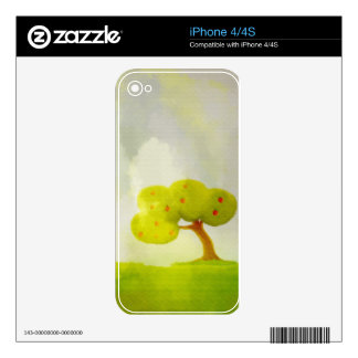 green apple tree iPhone 4/4S Skin Skins For The iPhone 4S