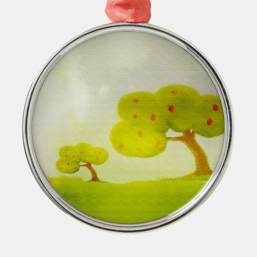 Green apple trees ornament for Apple tree decoration