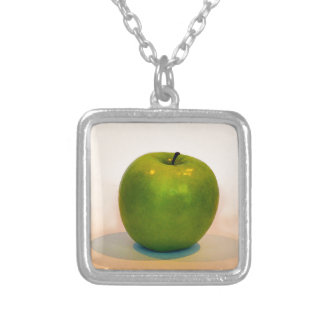 Green Apple Trio Silver Plated Necklace