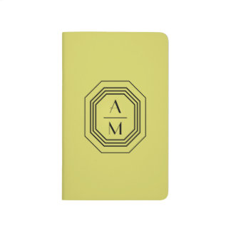 Green Apple Vintage Art Deco Personalized Journal