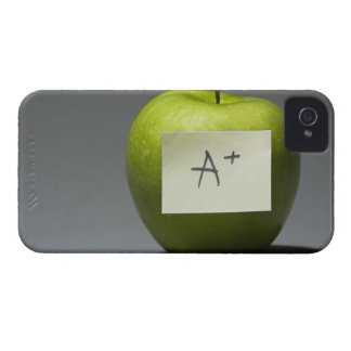 Green apple with adhesive note with letter A and iPhone 4 Case