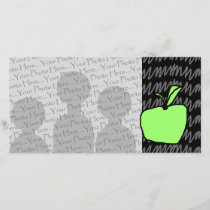 Green Apple with Patterned Background.