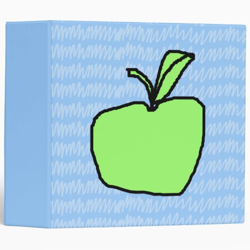 Green Apple with Patterned Background. Binder