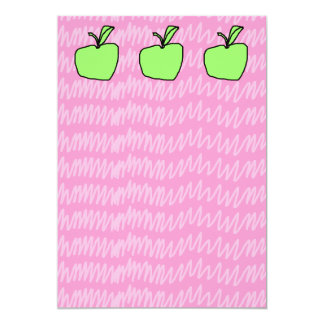 Green Apple with Patterned Background. Announcements