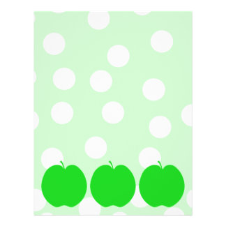 Green Apple with Spotty Background. Flyer