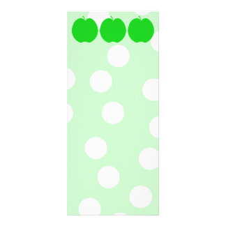 Green Apple with Spotty Background. Rack Card