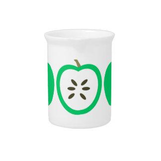 Green Apples Beverage Pitcher