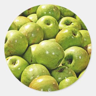 Green Apples Classic Round Sticker