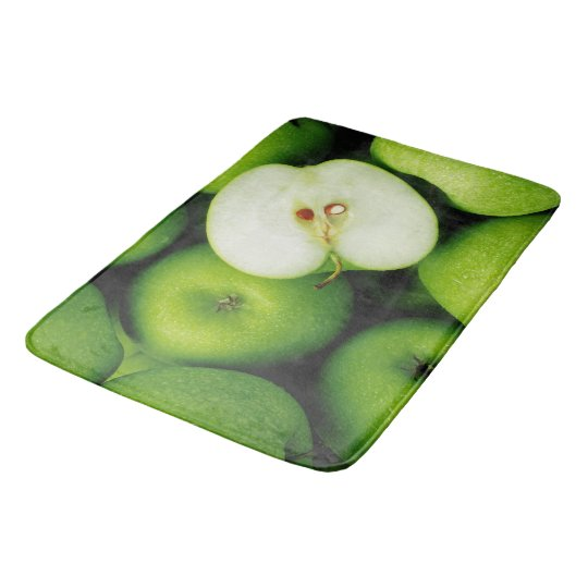 Green Apples Fruit Kitchen Rug Mat Home Decor Zazzle Com