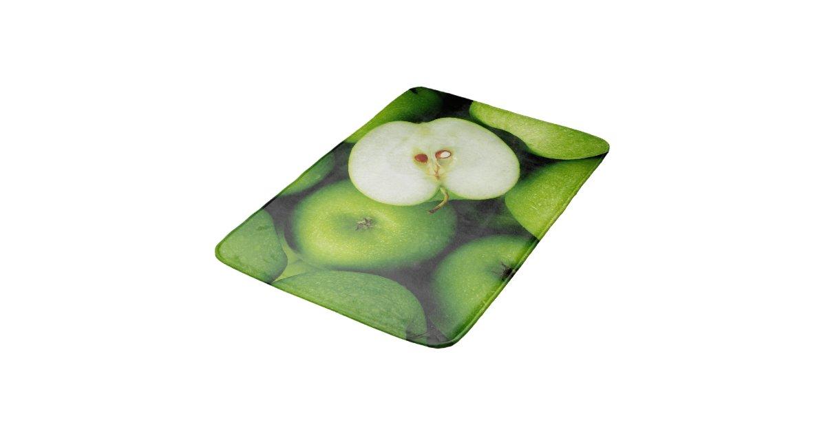Green Apples Fruit Kitchen Rug Mat Home Decor Zazzle Com