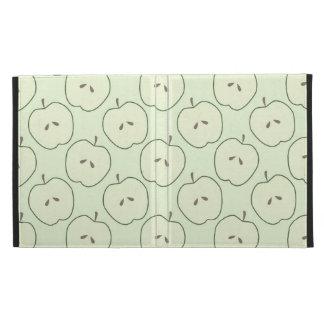 Green Apples Fruit Pattern iPad Case