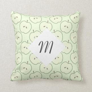 Green Apples, Fruit Pattern Throw Pillow