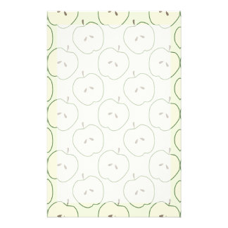 Green Apples, Fruit Pattern Personalized Stationery