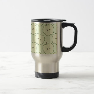 Green Apples, Fruit Pattern Travel Mug