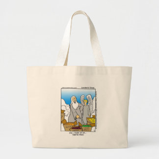 Green Apples Funny Mugs Cards Tees & Gifts Large Tote Bag