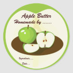 Green Apples Homemade Preserves Label Stickers