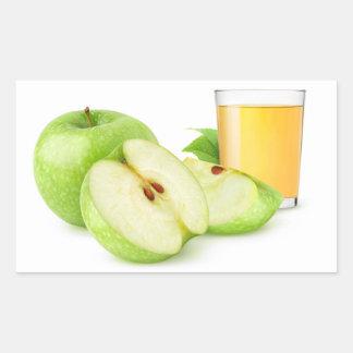 Green apples juice rectangular sticker