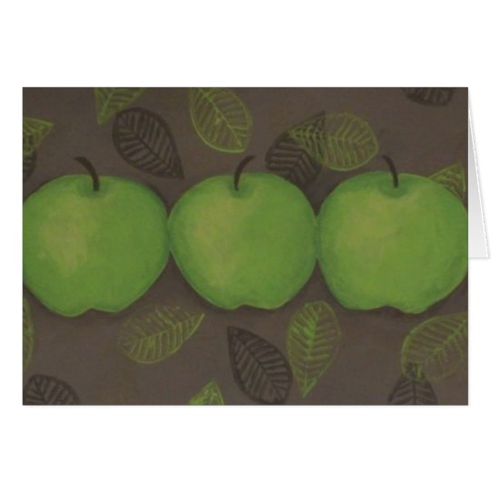 Green Apples Painting Notecard