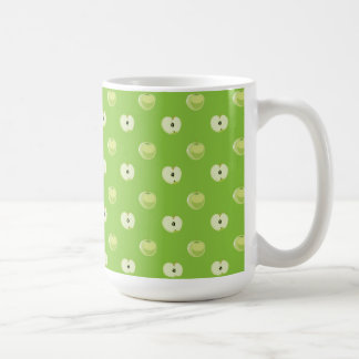 green apples patterns coffee mugs