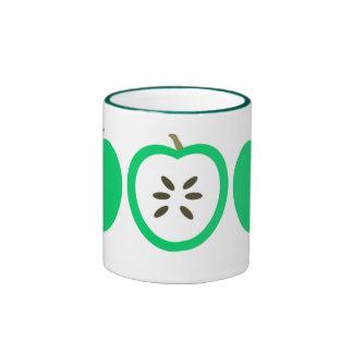 Green Apples Ringer Mug