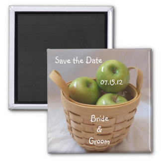 Green Apples Save the Date Magnets