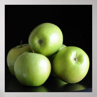 Green apples - square print