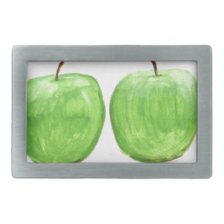 Green apples watercolour belt buckle