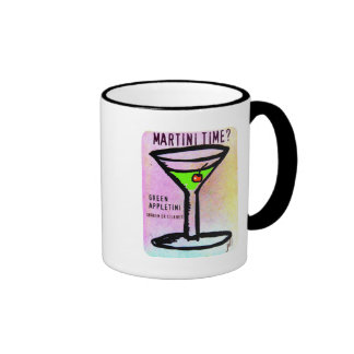 GREEN APPLETINI MARTINI TIME PASTEL PRINT by jill Ringer Mug