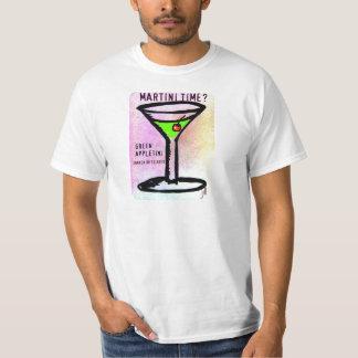 GREEN APPLETINI MARTINI TIME PASTEL PRINT by jill T-Shirt
