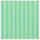 [ Thumbnail: Green & Aquamarine Lined Pattern Fabric ]