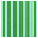 [ Thumbnail: Green & Aquamarine Striped/Lined Pattern Fabric ]