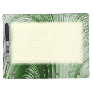 Green Arch Creation Dry Erase Board With Keychain Holder