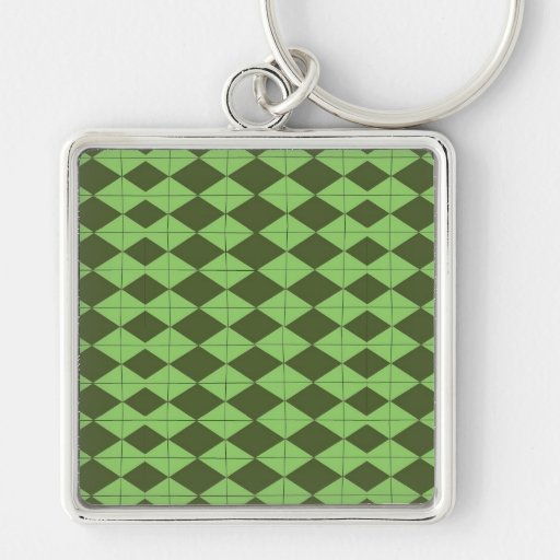 Green Argyl Key Chains