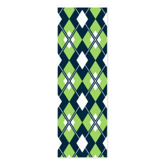 Green Argyle Bookmark Pack Of Skinny Business Cards