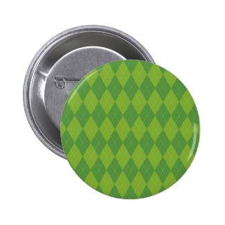 Green Argyle Button
