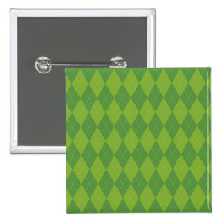 Green Argyle Pin