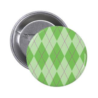 Green Argyle Buttons