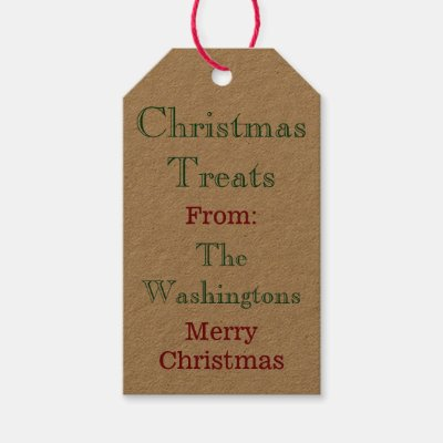 Christmas argyle holiday gift tags