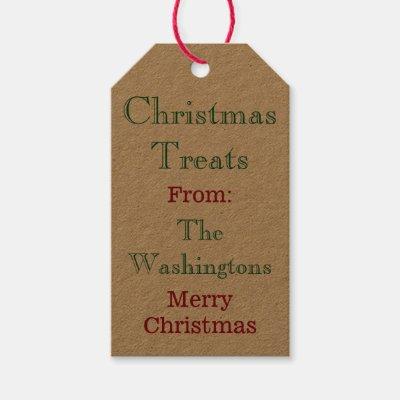 Christmas argyle holiday gift tags