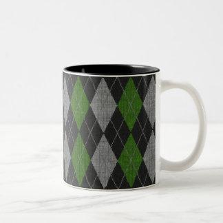 Green Argyle Coffee mug