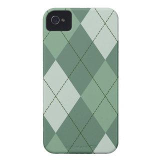 Green Argyle Cover Blackberry Cases