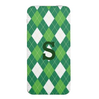 Green Argyle iPhone 5 Pouch