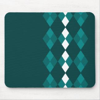 Green argyle mouse pad