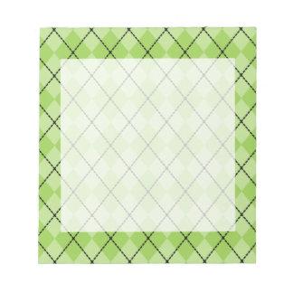 Green Argyle Notepad