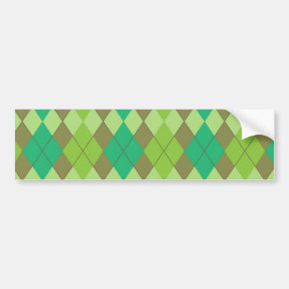 Green argyle pattern bumper sticker