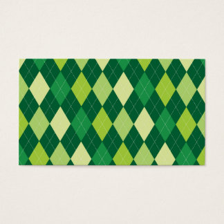 Green argyle pattern business card