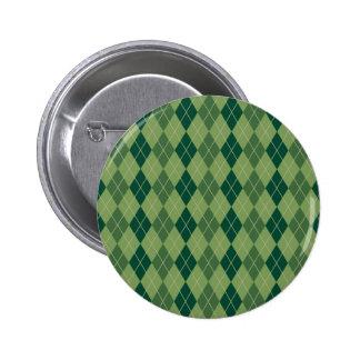 Green Argyle Pattern Pin