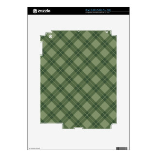 Green Argyle Pattern Decals For The iPad 2