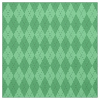 Green Argyle Pattern Fabric