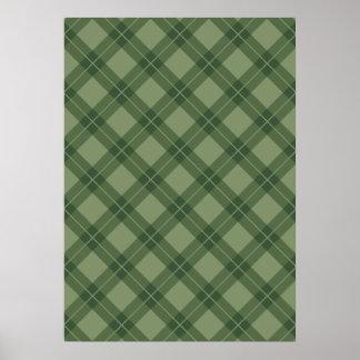 Green Argyle Pattern Poster